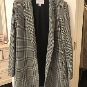 Carolina Belle plaid blazer/peacoat. Size L